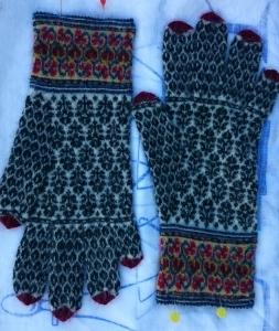 Half way to re-crafting Warren's gloves
